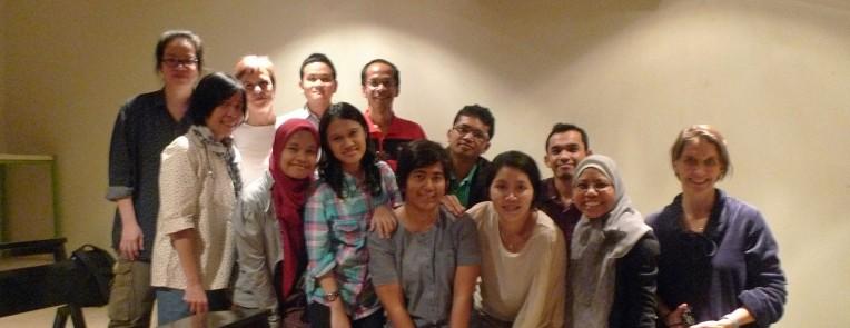 Peserta kelas Norwegia-Indonesia Lokakarya Penerjemahan Sastra 2013.